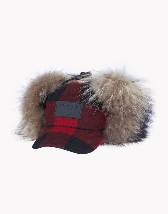 check fur earmuff ski cap other accessories Man Dsquared2