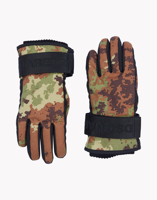 camouflage technical ski gloves  weitere accessoires Herren Dsquared2