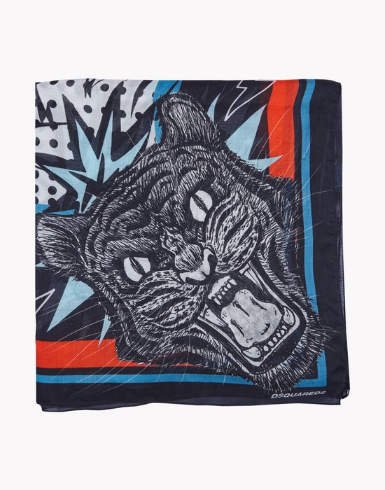 tiger foulard altri accessori Uomo Dsquared2