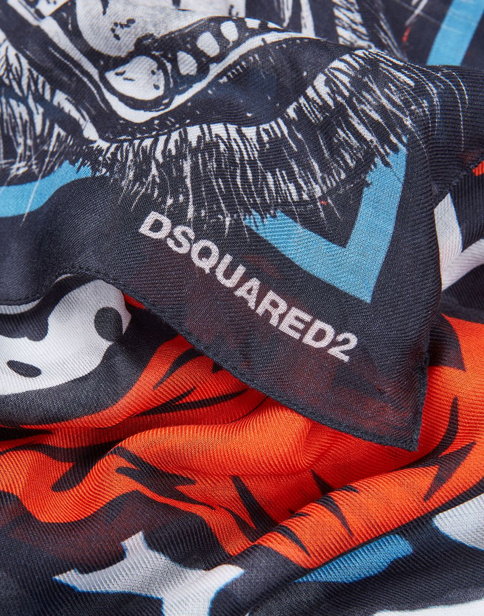 Tiger foulard foulard homme dsquared2 boutique en - Tiger boutique en ligne ...