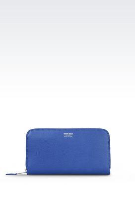 Armani Wallets Women wallet in boarded calfskin
