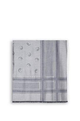 Armani Foulards Men square scarf with all-over logo