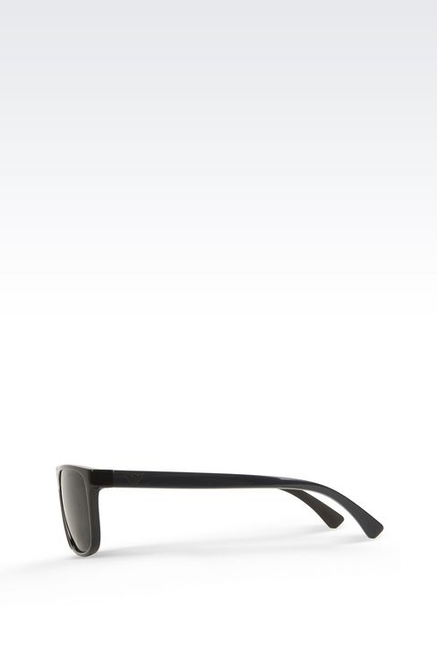 Retro shiny black sunglasses: sunglasses Men by Armani - 3