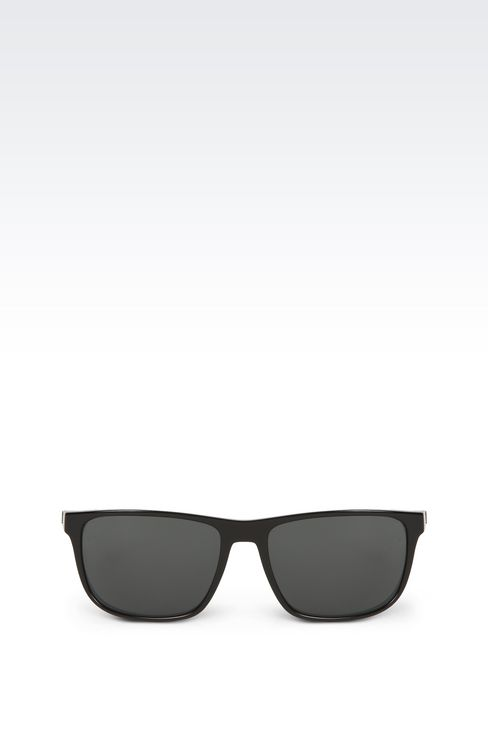 Retro shiny black sunglasses: sunglasses Men by Armani - 1