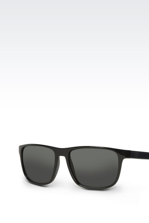 Retro shiny black sunglasses: sunglasses Men by Armani - 2