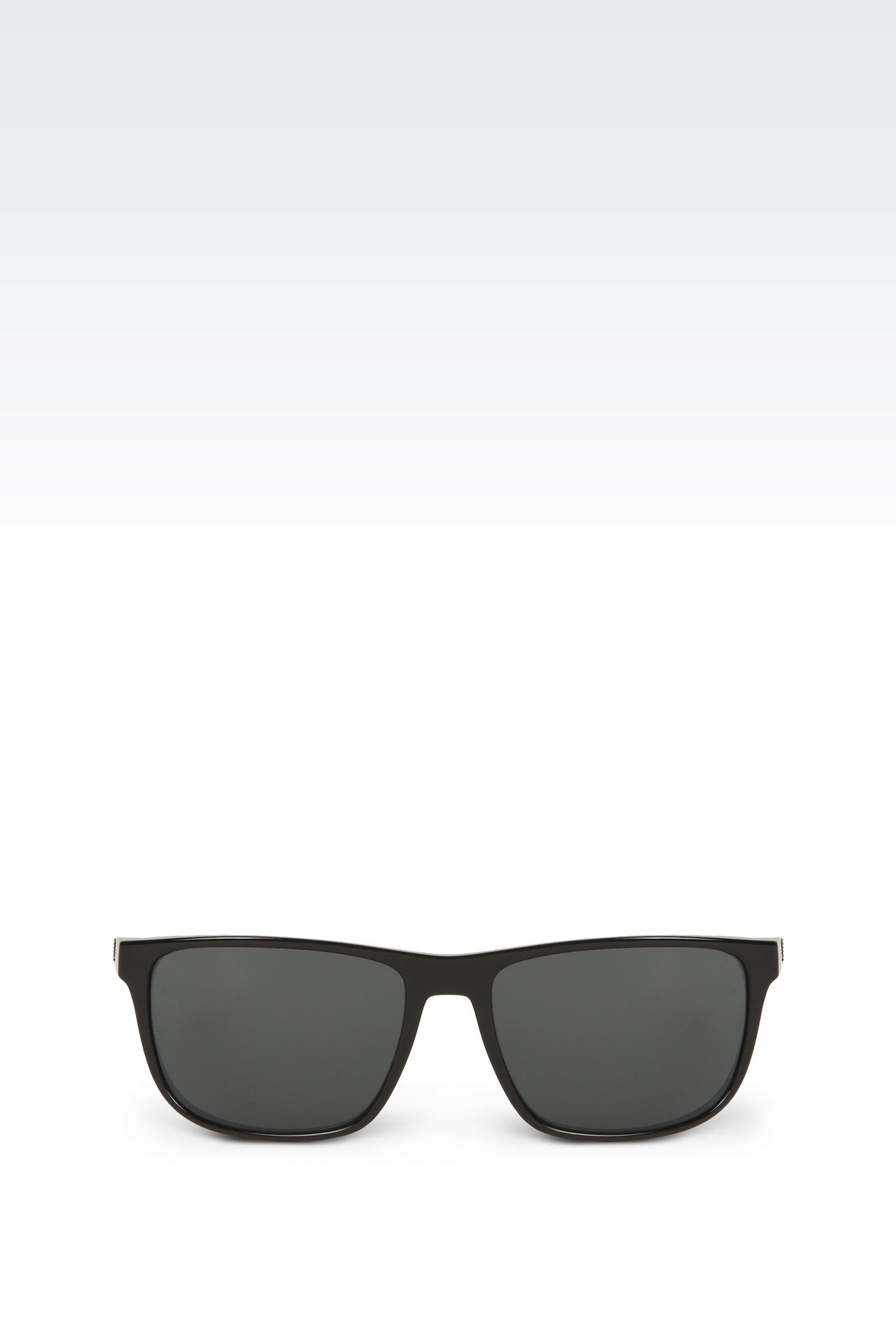 Retro shiny black sunglasses: sunglasses Men by Armani - 0