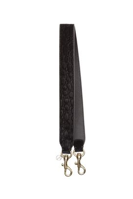 Armani Shoulder Straps Women croc print velvet shoulder strap
