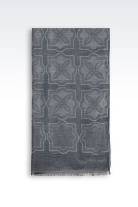Armani Stoles Men silk and linen blend scarf