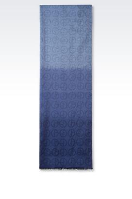 Armani Stoles Men silk blend jacquard scarf