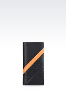 Armani Portafogli Uomo portafoglio in pelle stampata