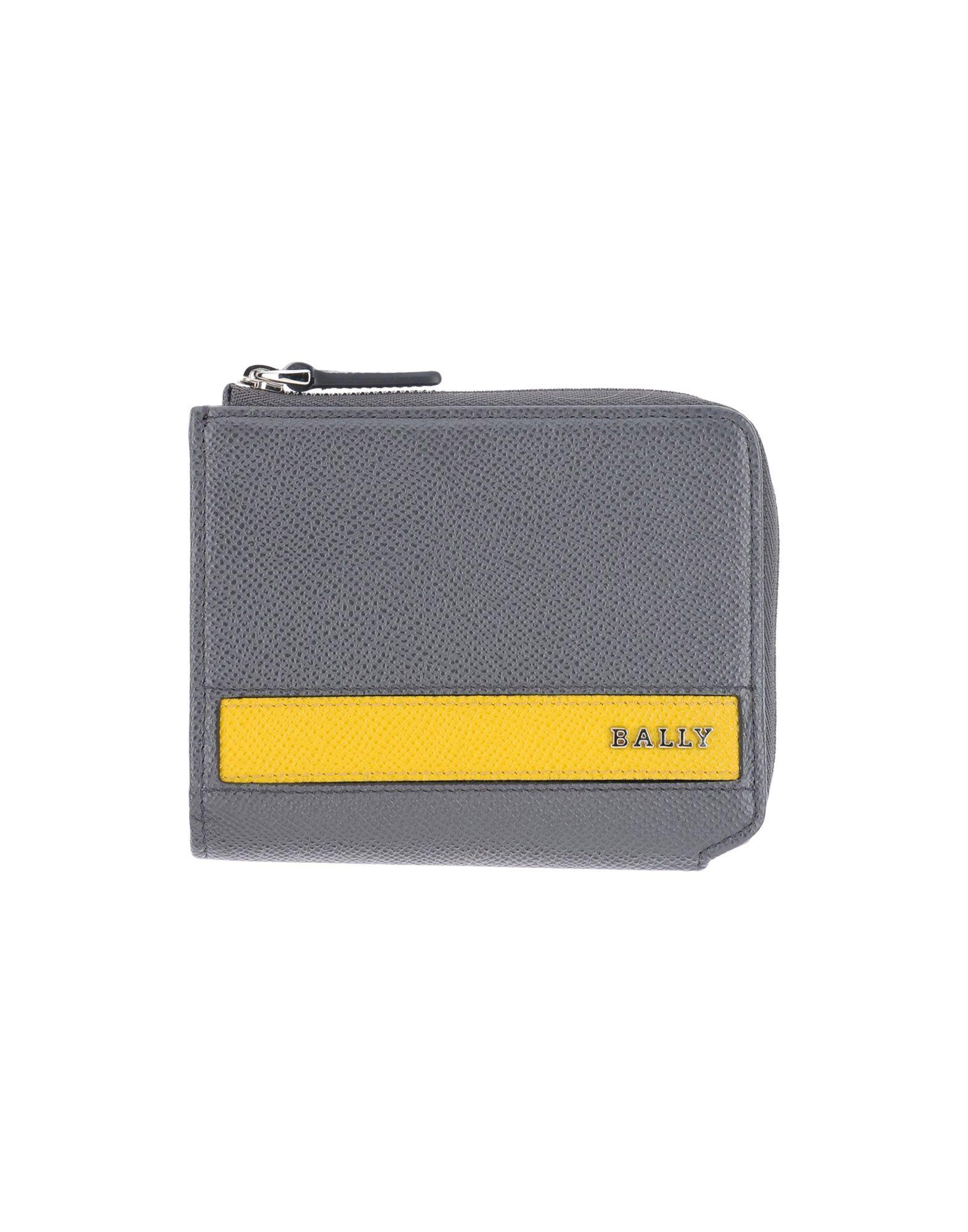 メンズ BALLY 財布 鉛色