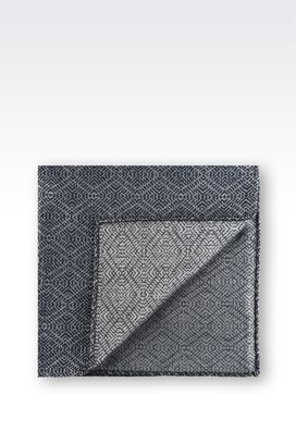 Armani Pochette Uomo fazzoletto da taschino in jacquard di pura seta