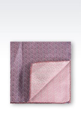 Armani Pocket handkerchiefs Men pure silk jacquard pocket handkerchief
