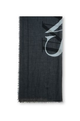 Armani Scarves Women gauze scarf with maxi logo