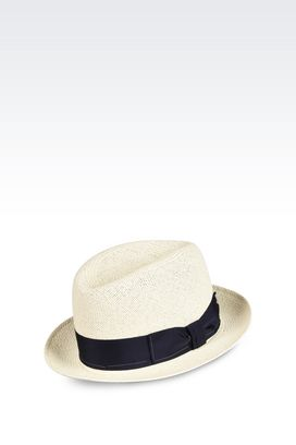 Armani Hats Men straw panama hat