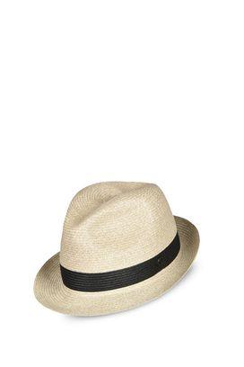Armani Cappelli Uomo cappello fedora in paglia