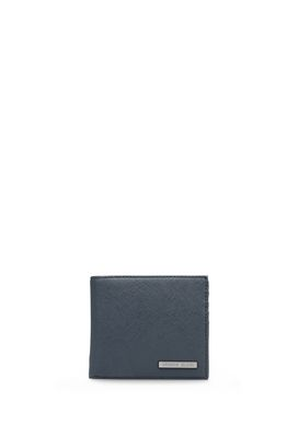 Armani Wallets Men faux saffiano leather wallet