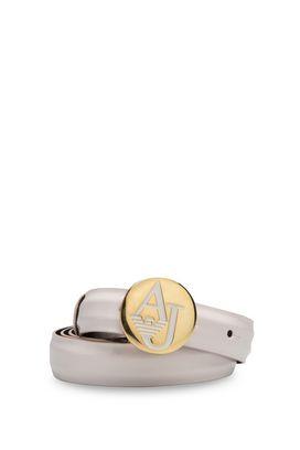 Armani Cinture in tessuto Donna cintura effetto vernice con fibbia logo