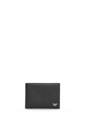 Armani Wallets Men perforated technical fabric wallet