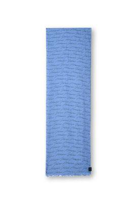Armani Sciarpe Uomo sciarpa in cotone modal firma logo all over