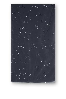 Armani Sciarpe Donna sciarpa in cotone e seta con stampa piccole aquile