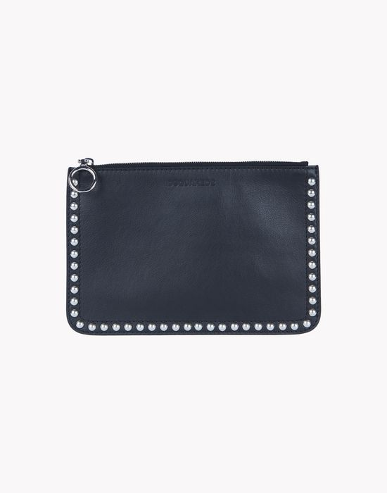 stud leather pouch handbags Man Dsquared2