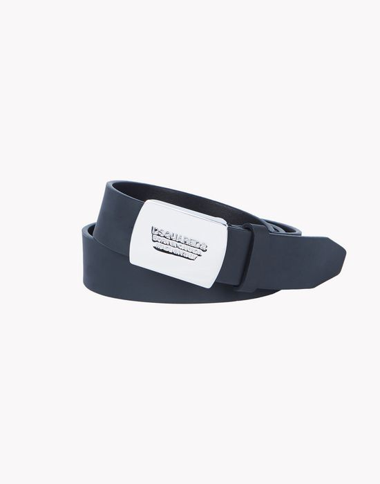 leather plaque belt cinture Uomo Dsquared2