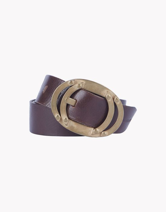 leather bronze buckle belt ceintures Homme Dsquared2