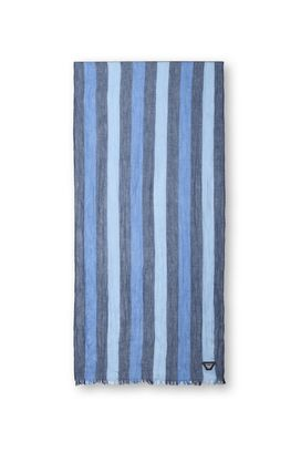 Armani Sciarpe Uomo sciarpa in tela di cotone a righe