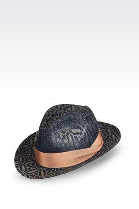 Armani Cappelli Uomo cappello panama in juta