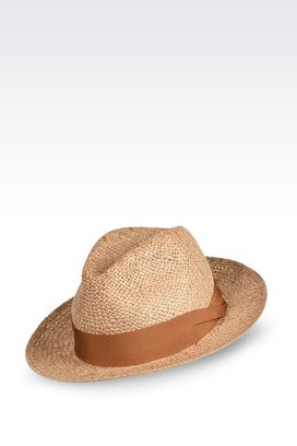 Armani Hats Men jute panama hat