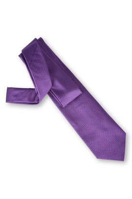 Armani Ties Men solid colour silk jacquard tie