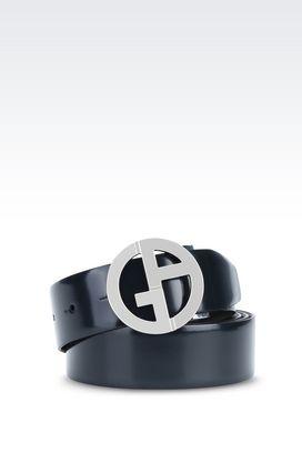 Armani Leather belts Men reversible leather belt