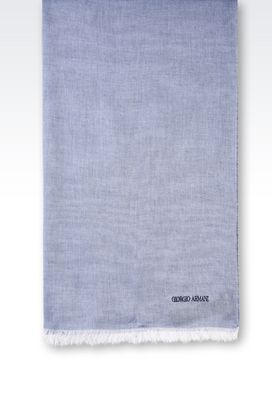 Armani Scarves Men silk and cotton blend scarf
