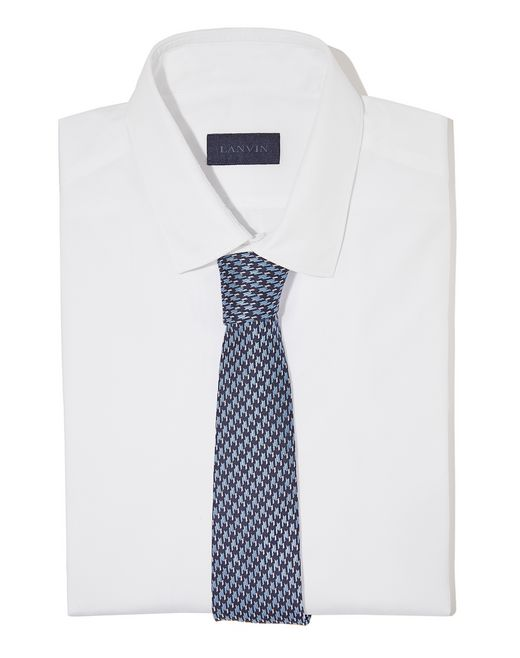 lanvin houndstooth check tie men