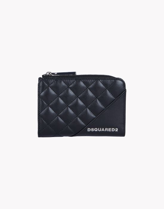mini quilted leather wallet other accessories Woman Dsquared2