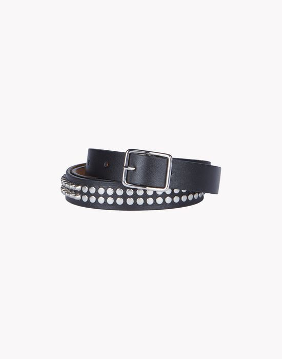 stud leather belt belts Woman Dsquared2