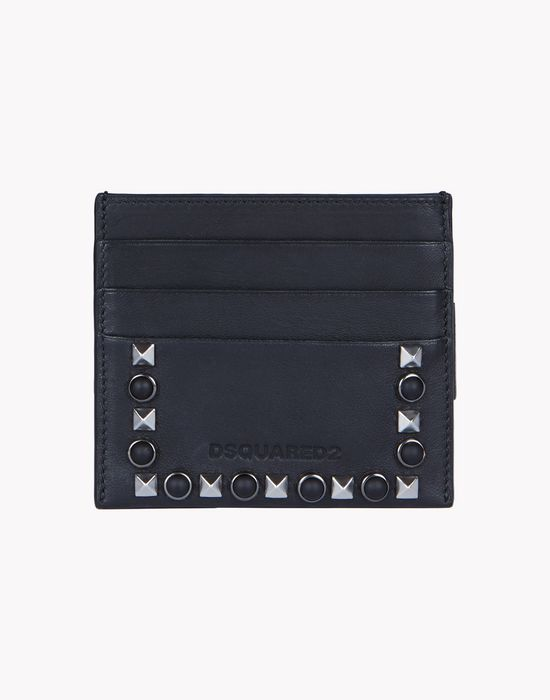 stud leather credit card holder accessoires Homme Dsquared2