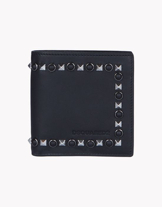 stud leather wallet complementos Hombre Dsquared2