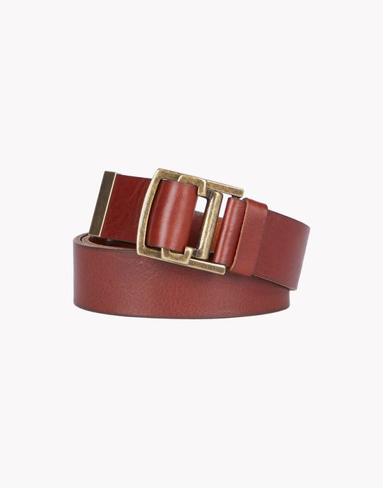 leather buckle belt belts Woman Dsquared2