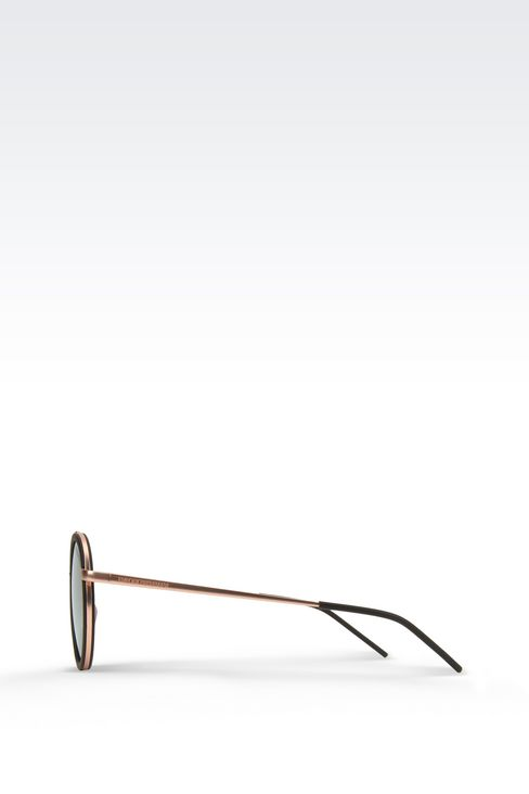Black rimmed copper sunglasses: sunglasses Men by Armani - 3