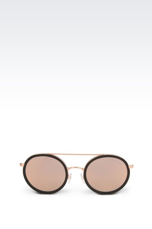 Black rimmed copper sunglasses: sunglasses Men by Armani - 1