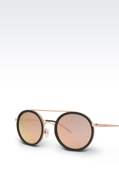 Black rimmed copper sunglasses: sunglasses Men by Armani - 2