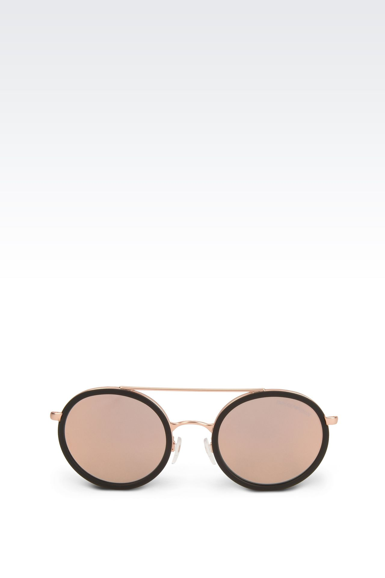 Black rimmed copper sunglasses: sunglasses Men by Armani - 0