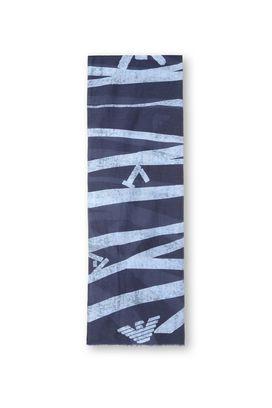Armani Sciarpe Uomo sciarpa in cotone e seta