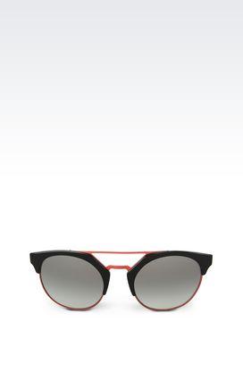 Armani sunglasses Women bicolor round sunglasses