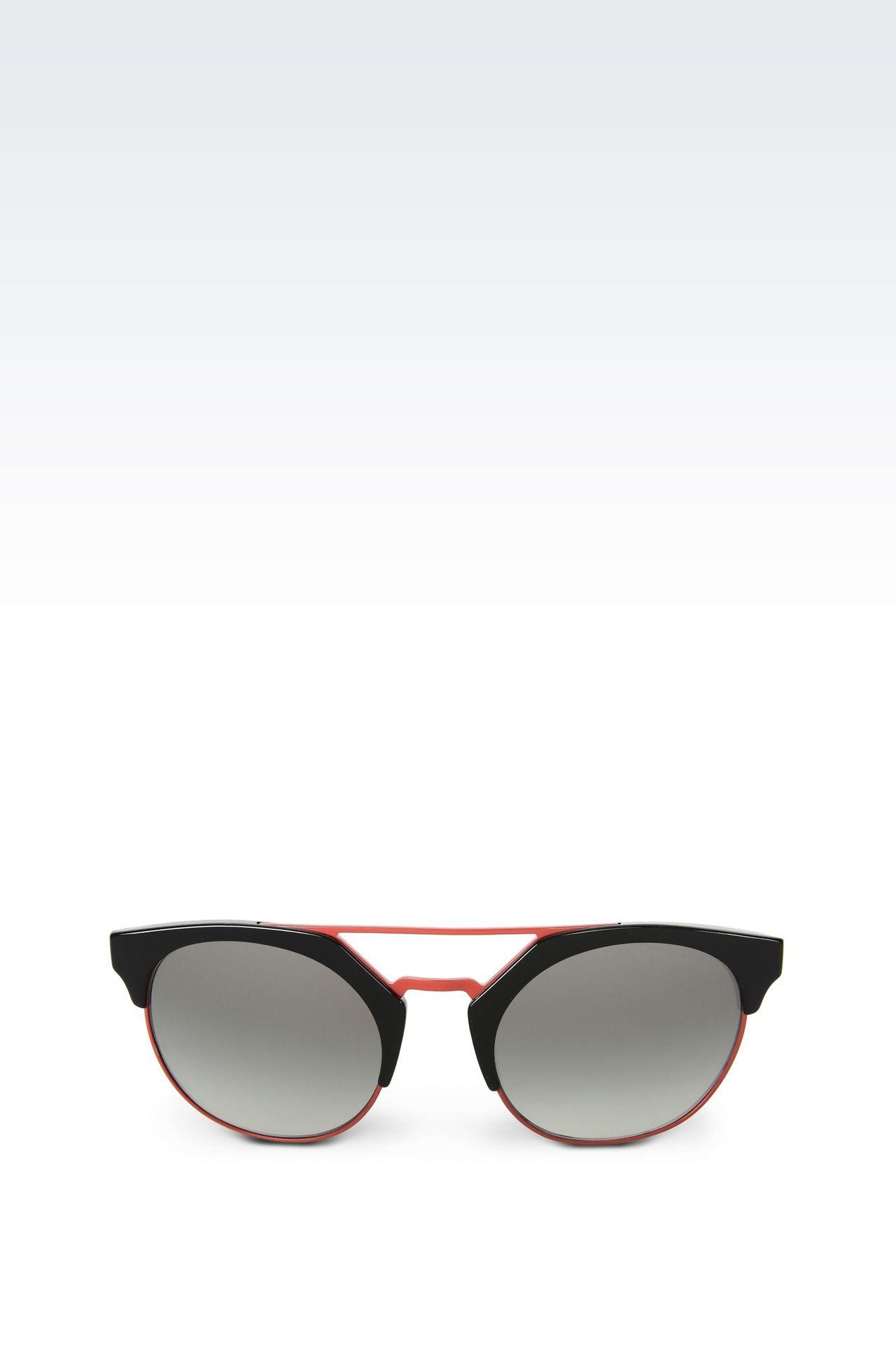 BICOLOR ROUND SUNGLASSES: sunglasses Women by Armani - 0
