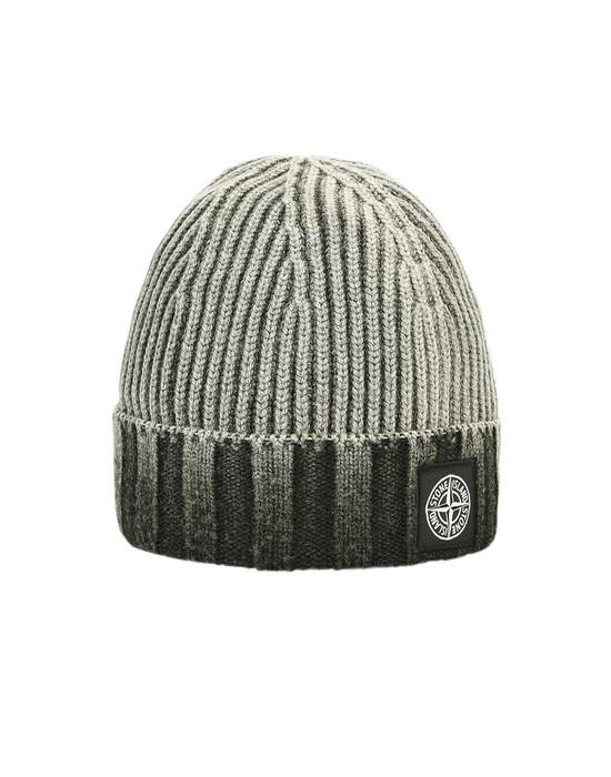 White Stone Island Woolly Beanie Hat