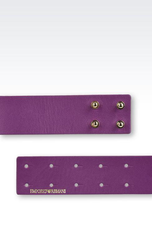 Belts: Leather belts Women by Armani - 3