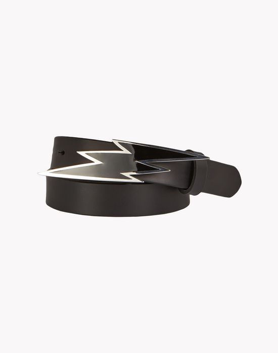 lightning leather belt belts Woman Dsquared2